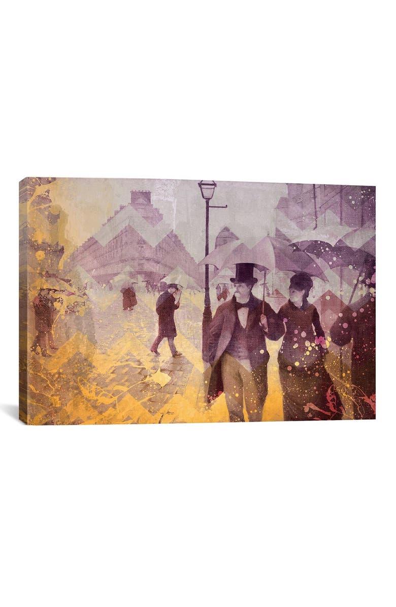 ICANVAS 'Paris Street IV' Giclée Print Canvas Art, Main, color, GREY