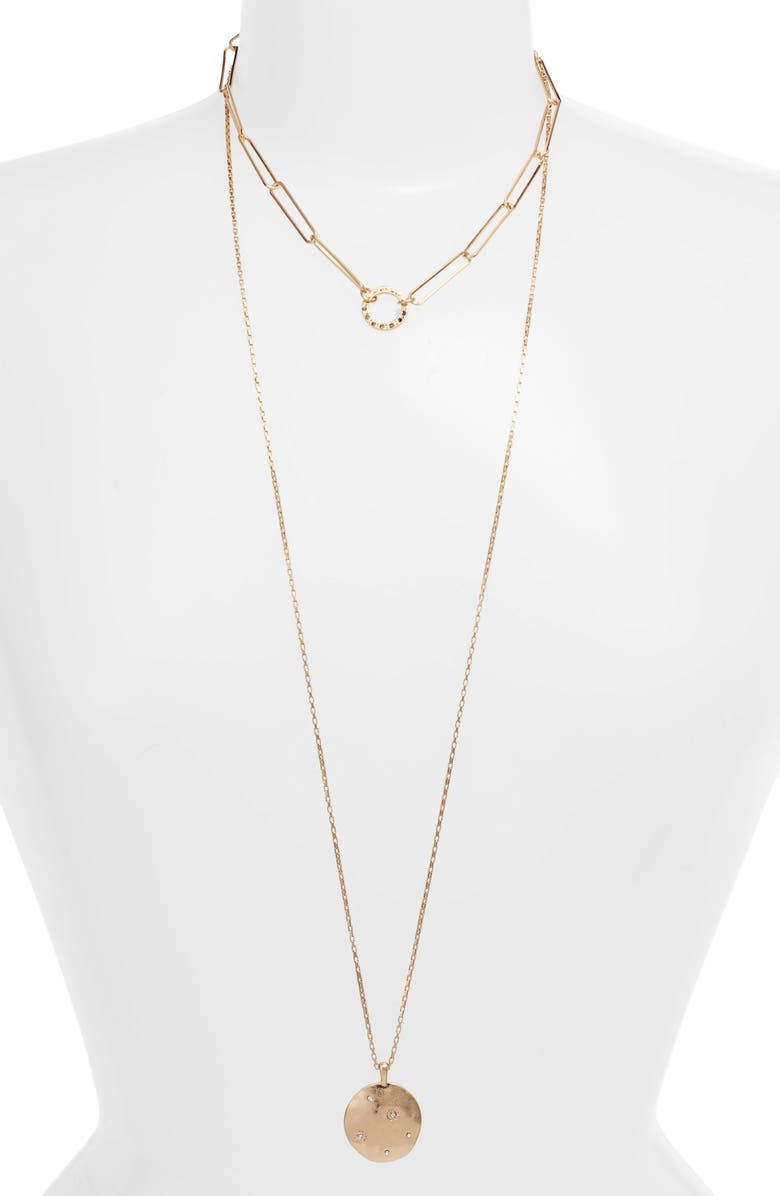 TREASURE & BOND Pavé Multistrand Necklace, Main, color, 710