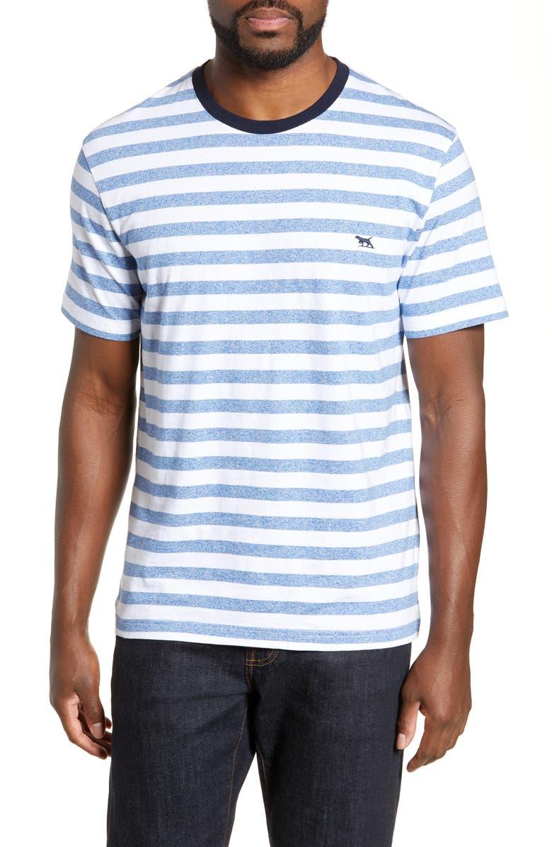 RODD & GUNN Garston Stripe T-Shirt, Main, color, ROYAL