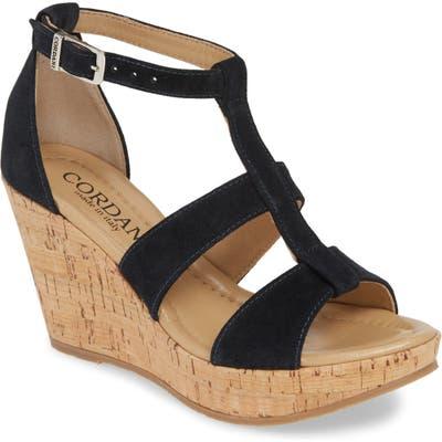 Cordani Raquel Cork Wedge Sandal - Blue