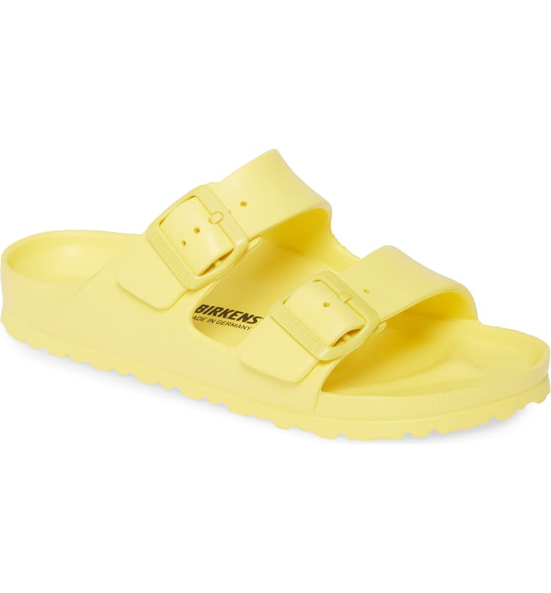 BIRKENSTOCK Essentials - Arizona Slide Sandal, Main, color, VIBRANT YELLOW