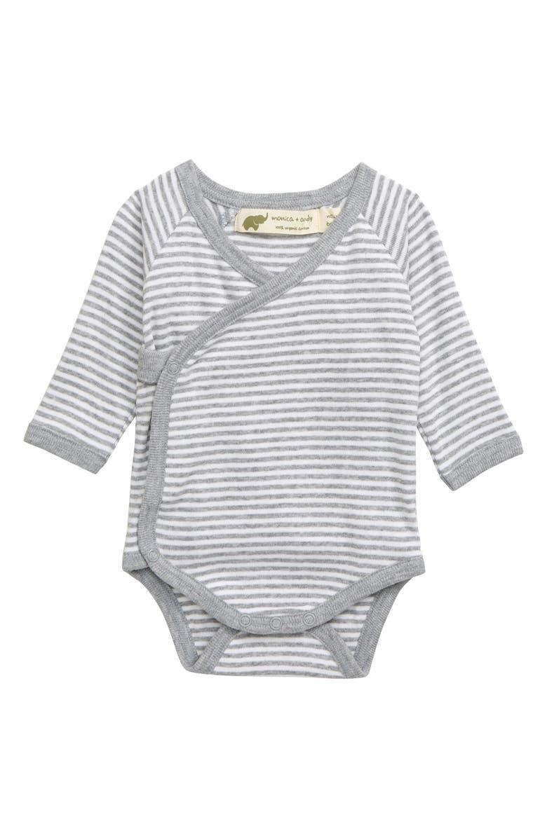 MONICA + ANDY Lucky Organic Cotton Bodysuit, Main, color, 020