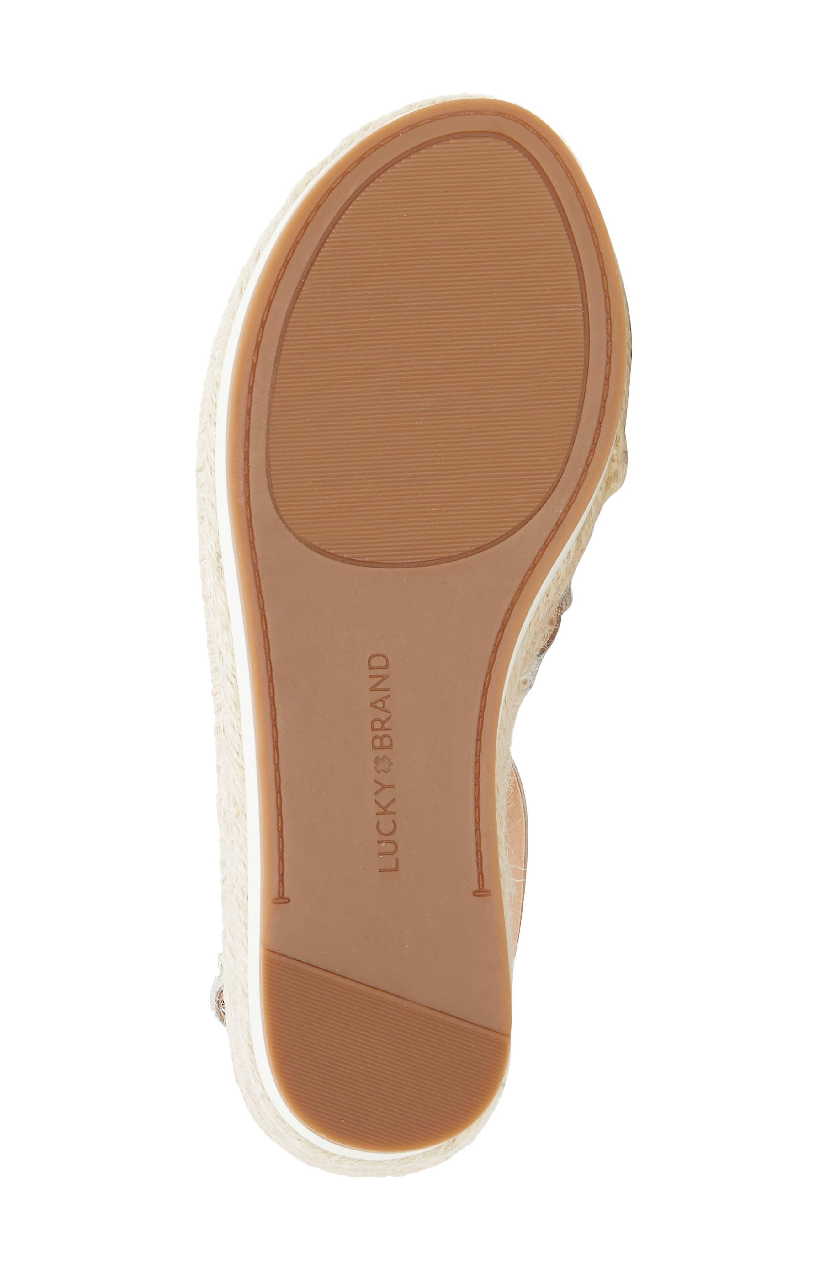 ,                             Jenepper Platform Wedge Sandal,                             Alternate thumbnail 6, color,                             SILVER LEATHER