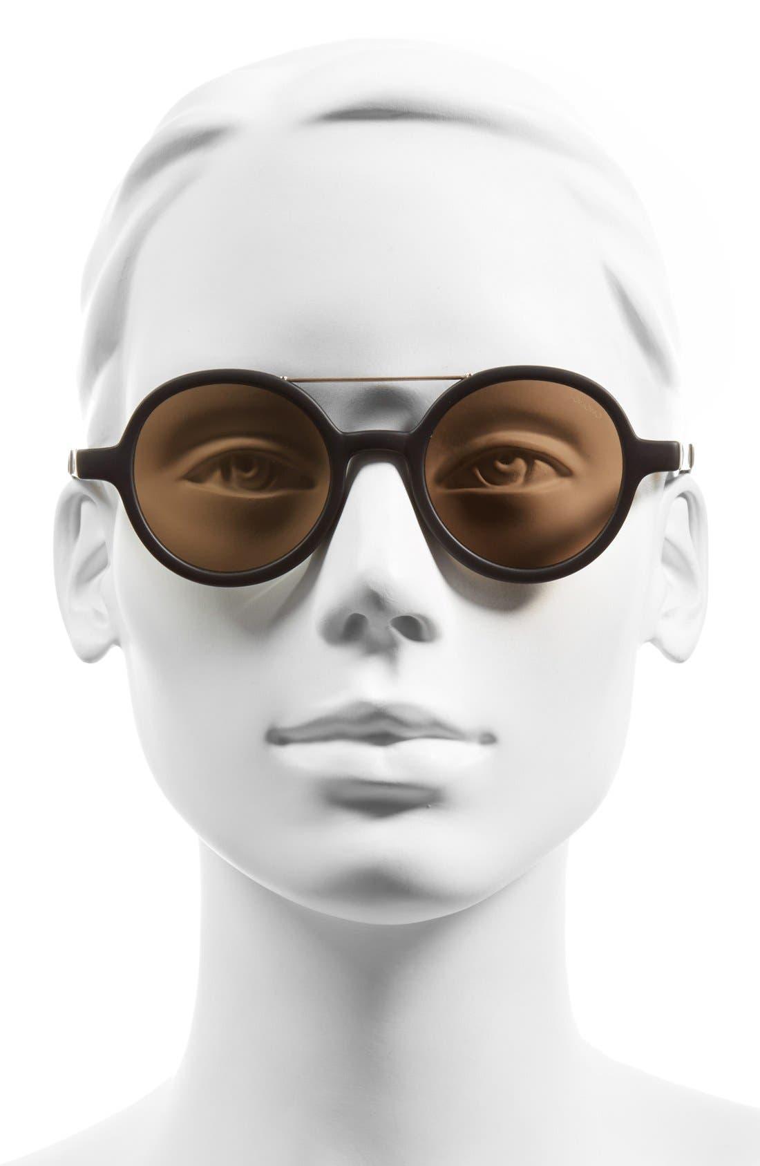 ,                             'Vivien' Round Lens Sunglasses,                             Alternate thumbnail 2, color,                             001
