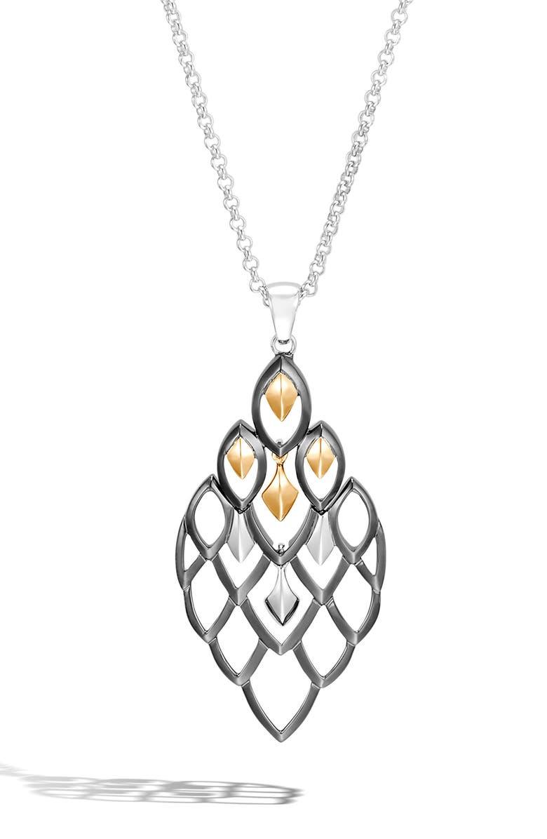 JOHN HARDY Legends Naga Pendant Necklace, Main, color, SILVER/ GOLD