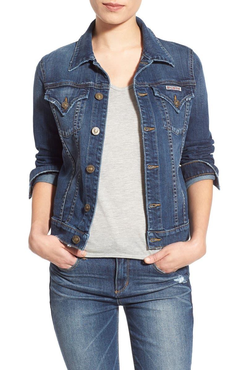 HUDSON JEANS 'The Signature' Denim Jacket, Main, color, 422