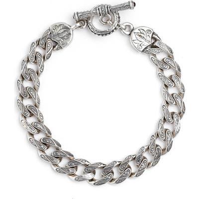 Konstantino Silver Classics Etched Link Bracelet