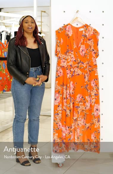 Floral Print Chiffon High/Low Maxi Dress, sales video thumbnail