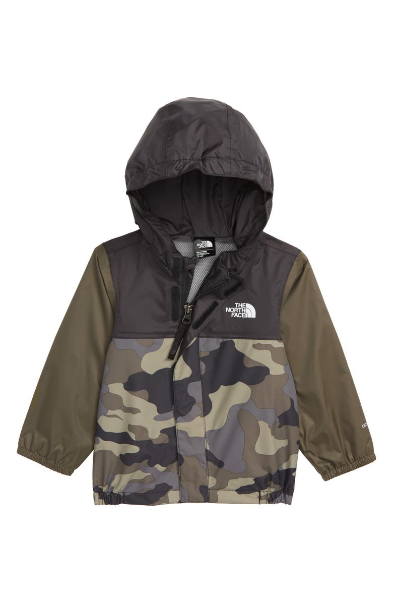THE NORTH FACE Tailout Hooded Rain Jacket, Main, color, TAUPE/ GREEN CAMO PRINT