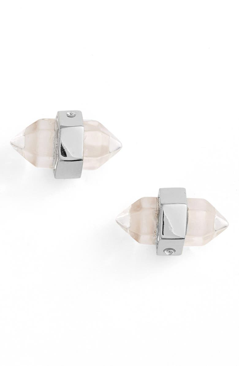 REBECCA MINKOFF Clear Stud Earrings, Main, color, 040