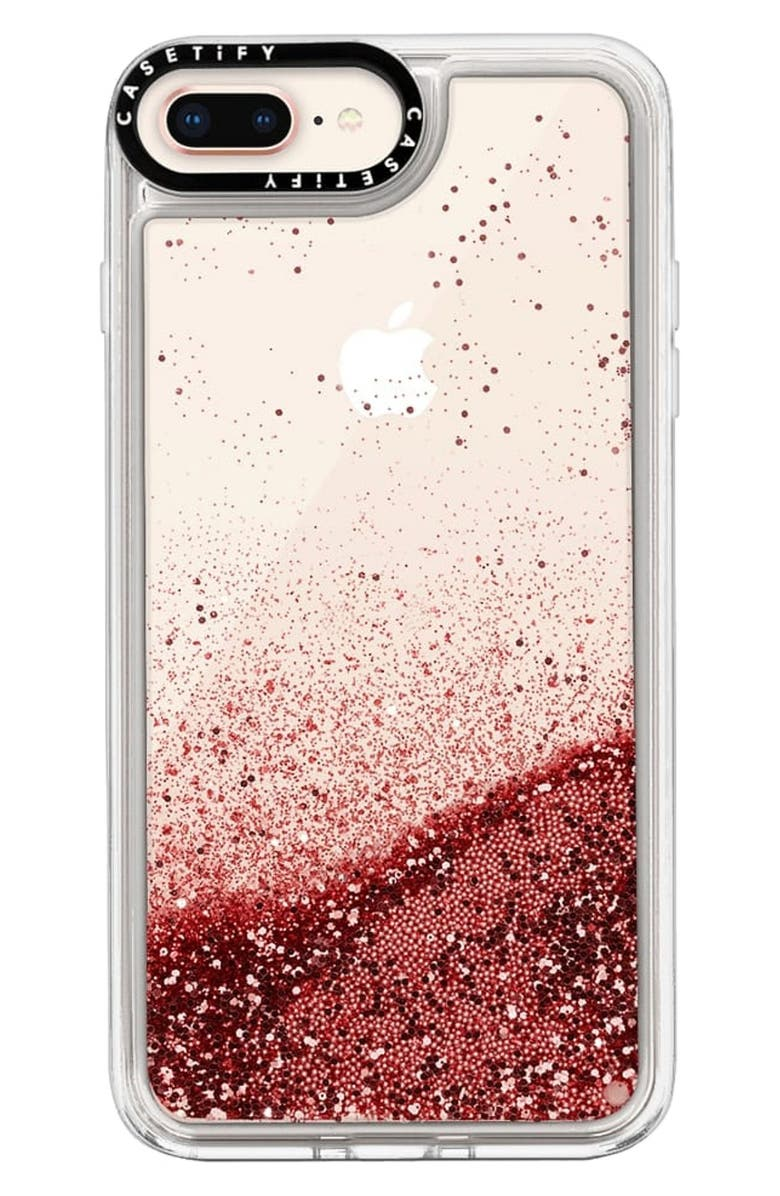 CASETIFY Glitter iPhone 7/8 Plus Case, Main, color, ROSE PINK