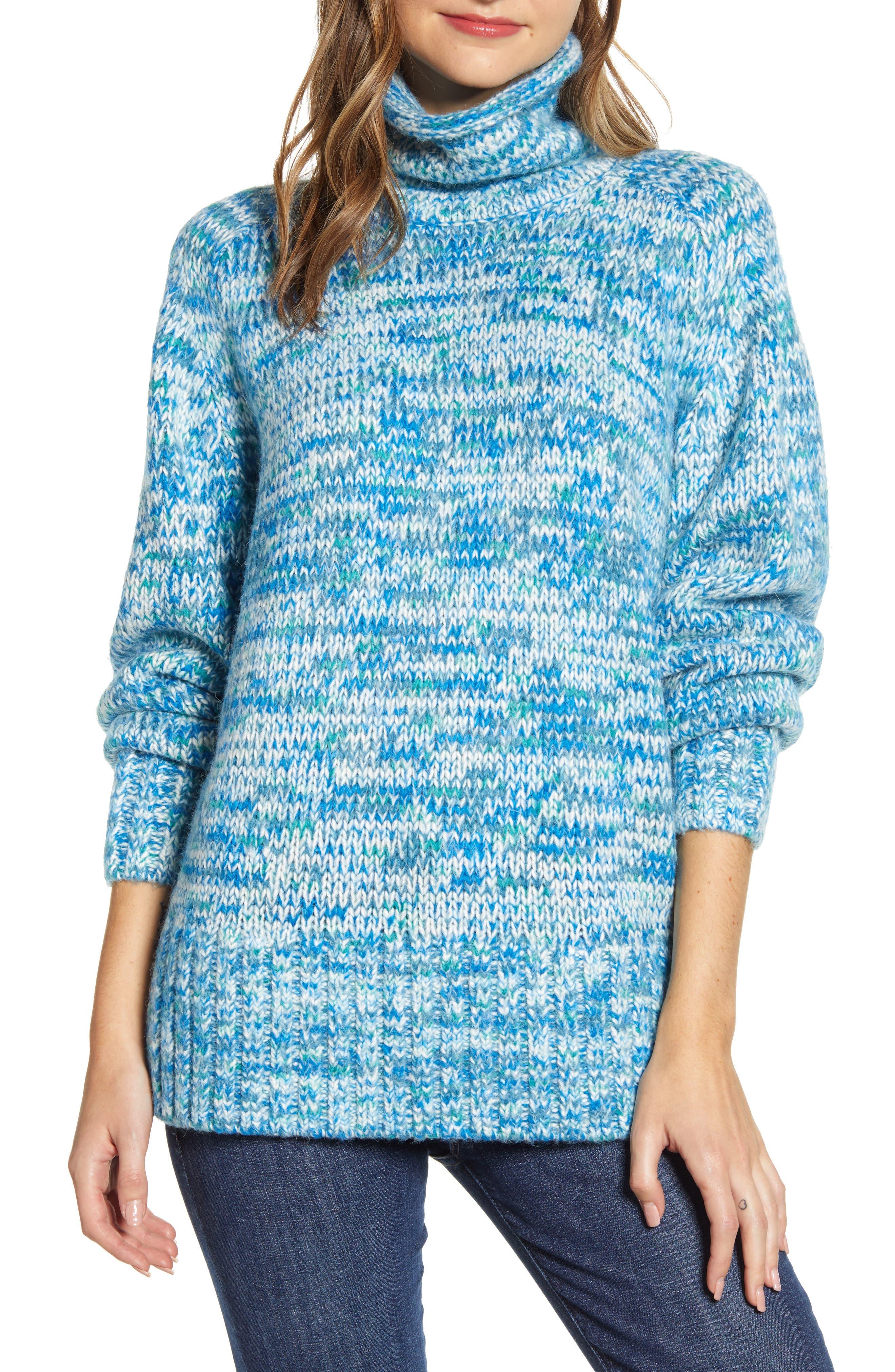 Image of LOU & GREY Findley Space Dye Turtleneck Sweater