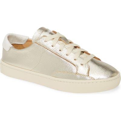 Soludos Ibiza Metallic Lace-Up Sneaker- Metallic