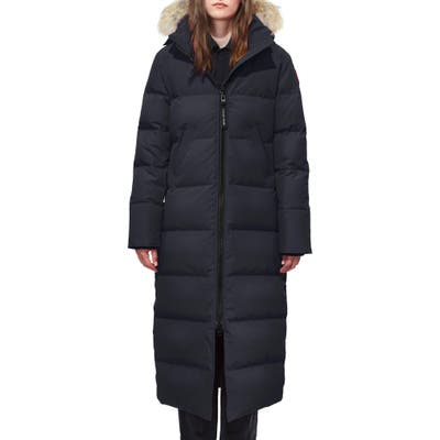 Canada Goose Mystique Fusion Fit Down Parka With Genuine Coyote Fur, P (10-12P) - Blue