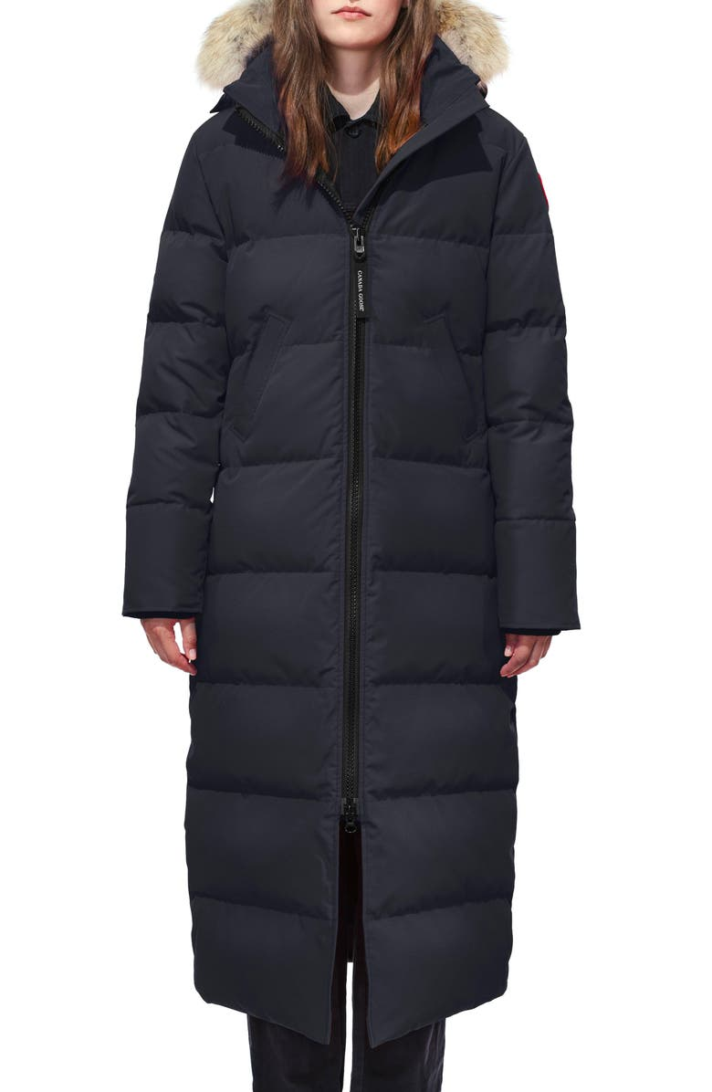 CANADA GOOSE Mystique Fusion Fit Down Parka with Genuine Coyote Fur, Main, color, NAVY
