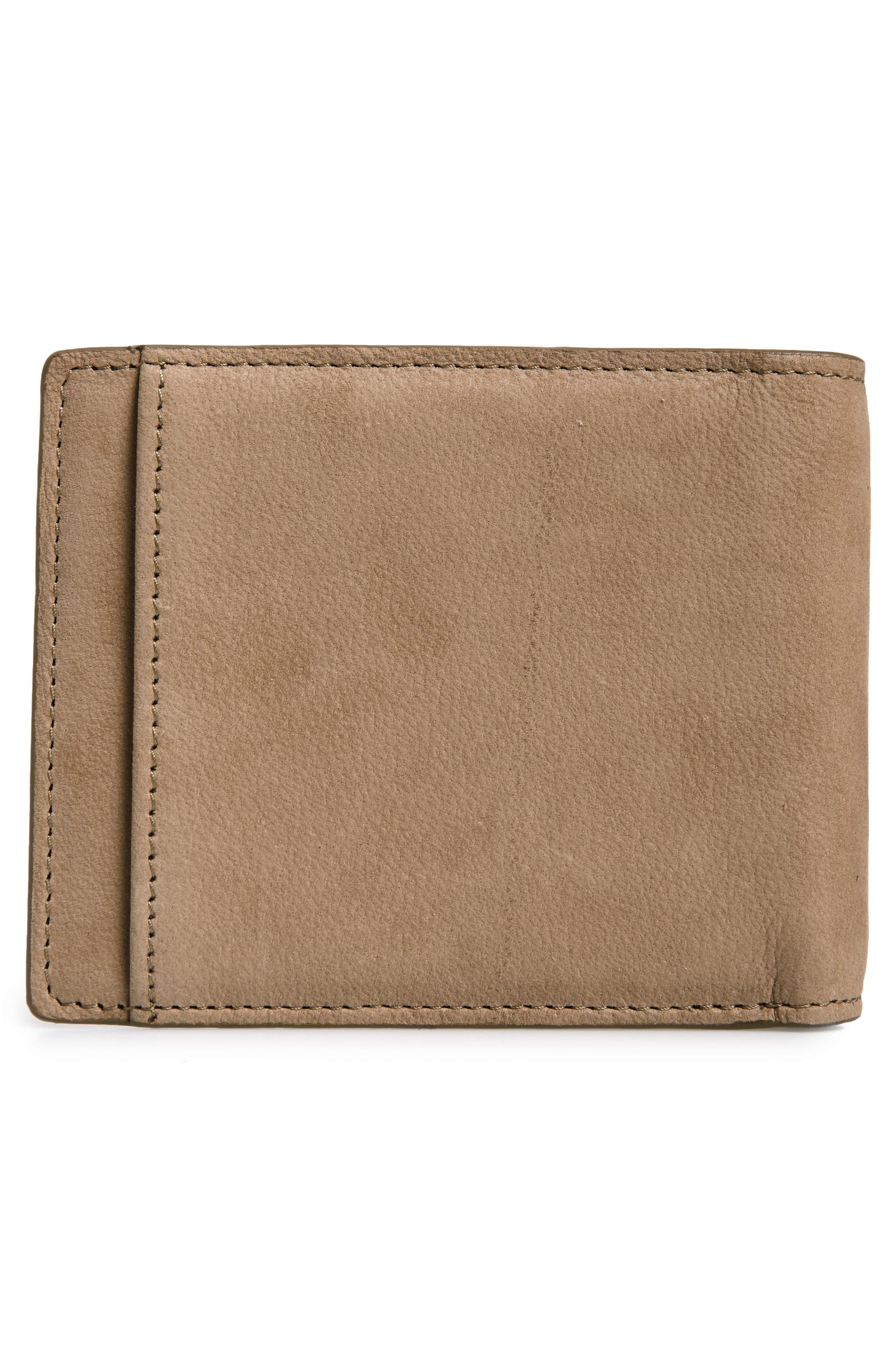 ,                             Upton RFID Leather Wallet,                             Alternate thumbnail 3, color,                             TAN DUSK