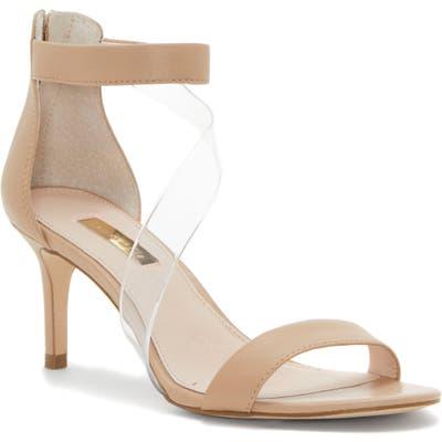 Louise Et Cie Hallia Clear Crossover Strap Sandal, Beige