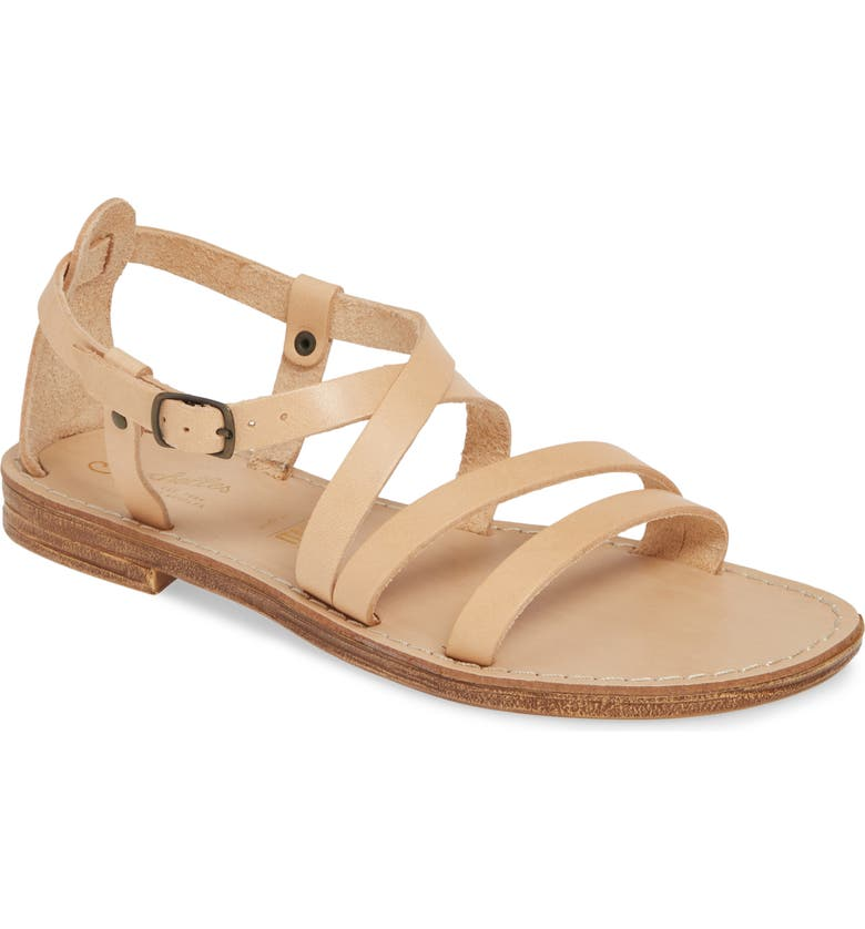 SEYCHELLES Upcycle Strappy Sandal, Main, color, BEIGE LEATHER