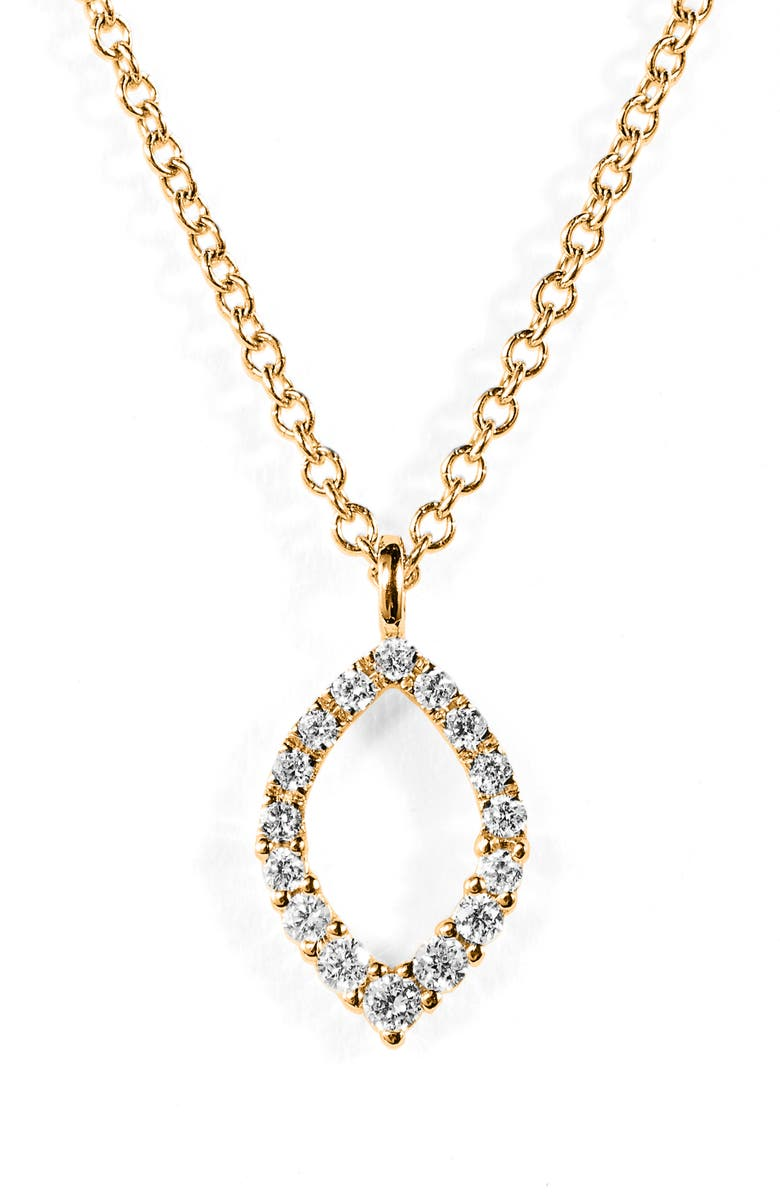 BONY LEVY Simple Obsession Diamond Pendant Necklace, Main, color, YELLOW GOLD./ DIAMOND