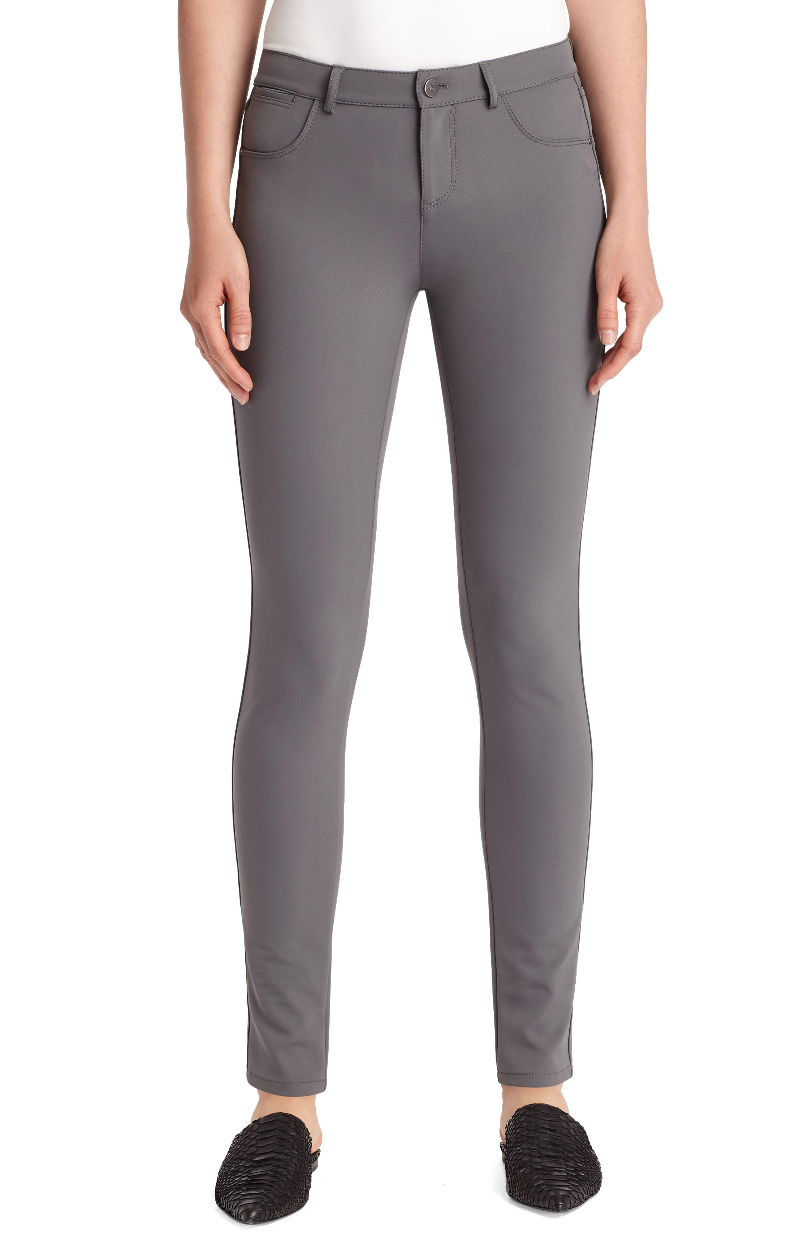 Women's Lafayette 148 New York Mercer Acclaimed Stretch Skinny Pants,  2 - Grey