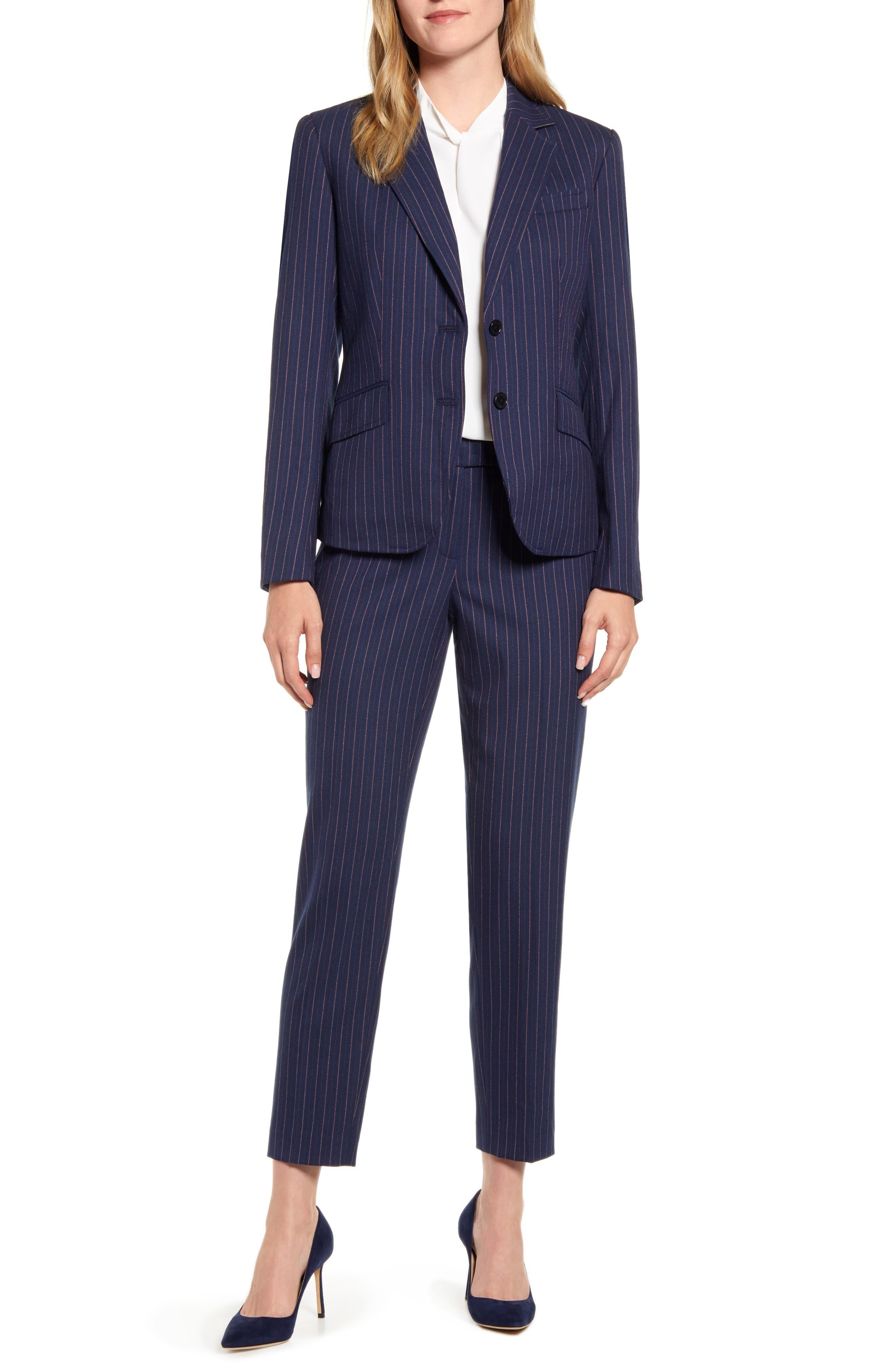 Anne Klein Nested Pinstripe Suit