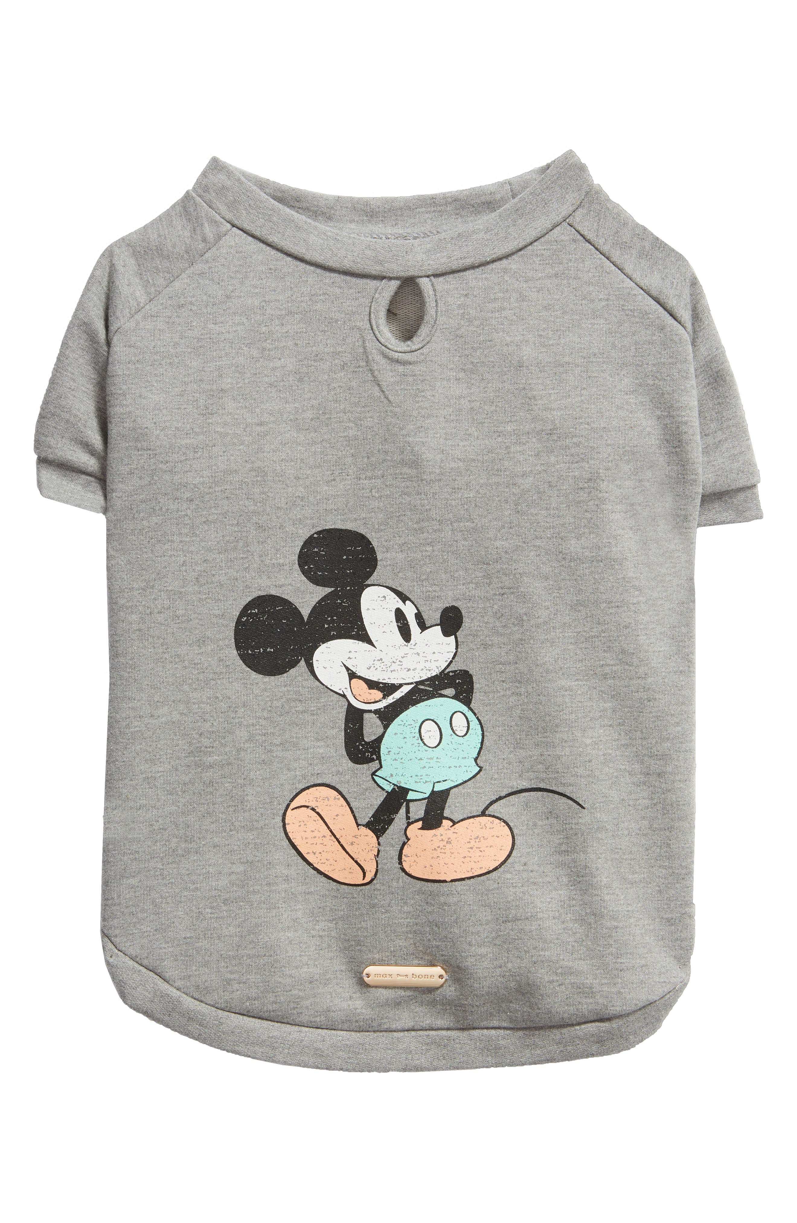 Max-Bone Classic Mickey Mouse Dog Sweater, Grey