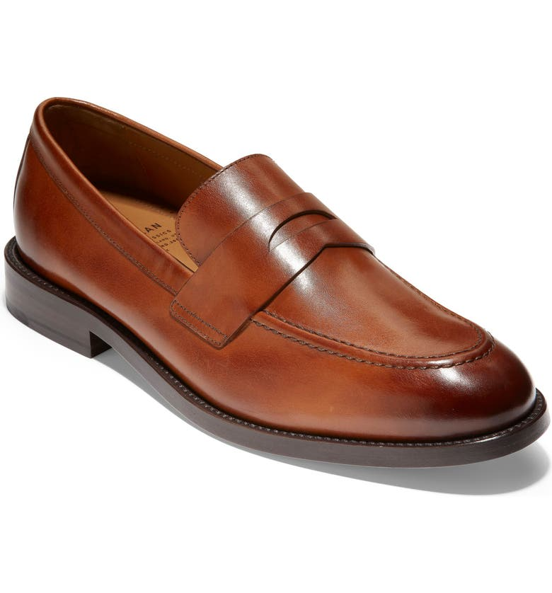 Cole Haan Beige Leather Caramel Two tone Penny Loafer Pumps Size US 8.5 Regular (M, B)