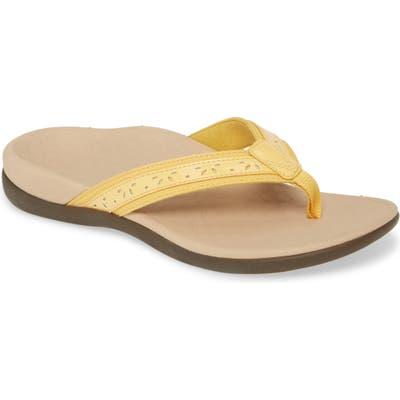 Vionic Casandra Flip Flop, Yellow