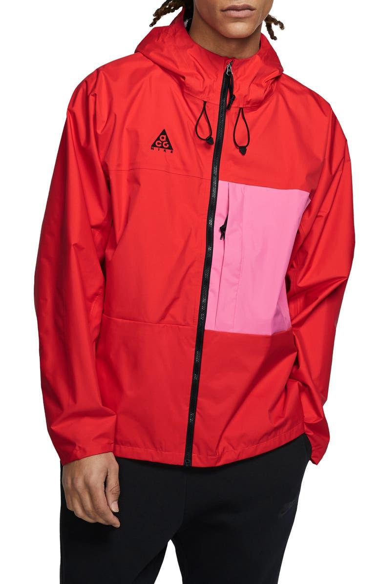 NIKE ACG Men's Packable Jacket, Main, color, HABANERO RED/ LOTUS PINK