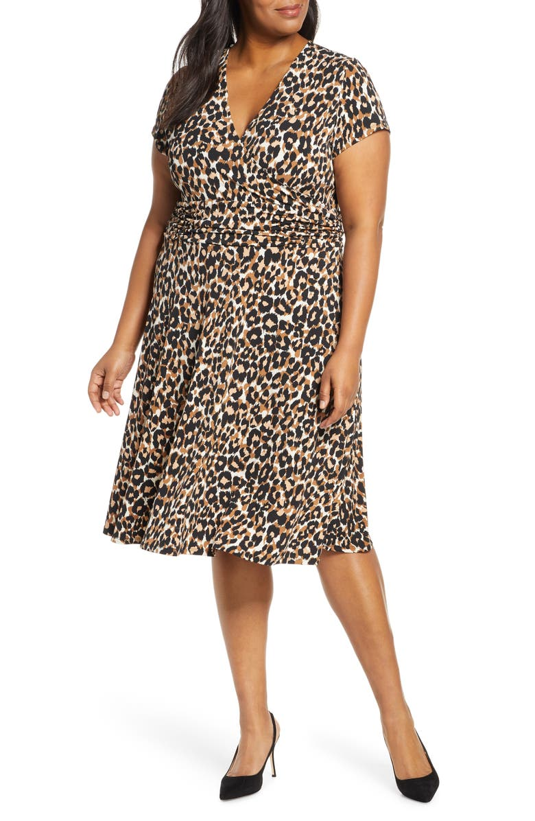 LEOTA Amiya Faux Wrap Dress, Main, color, 200