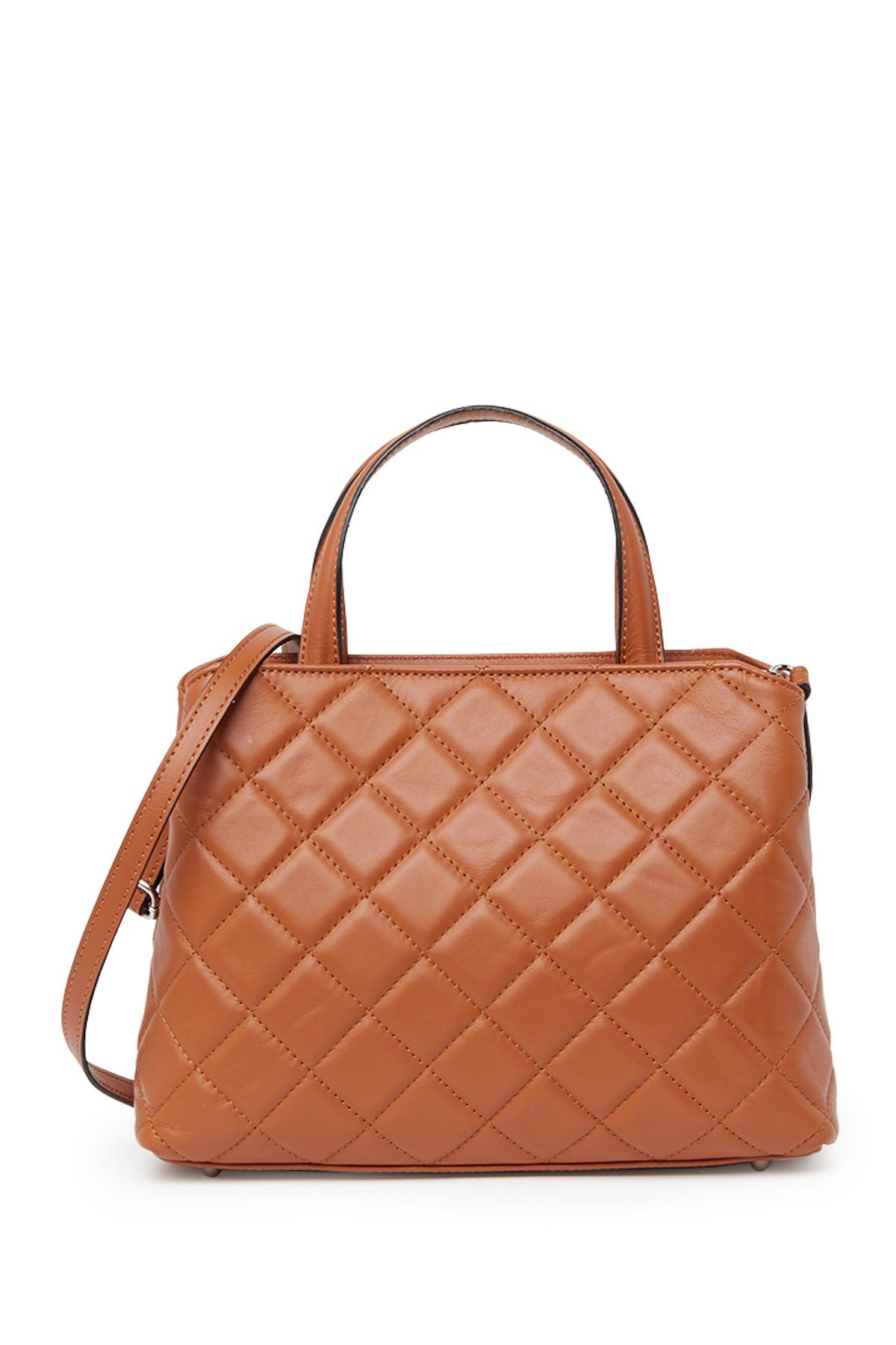Image of Roberta M Quilted Leather Satchel