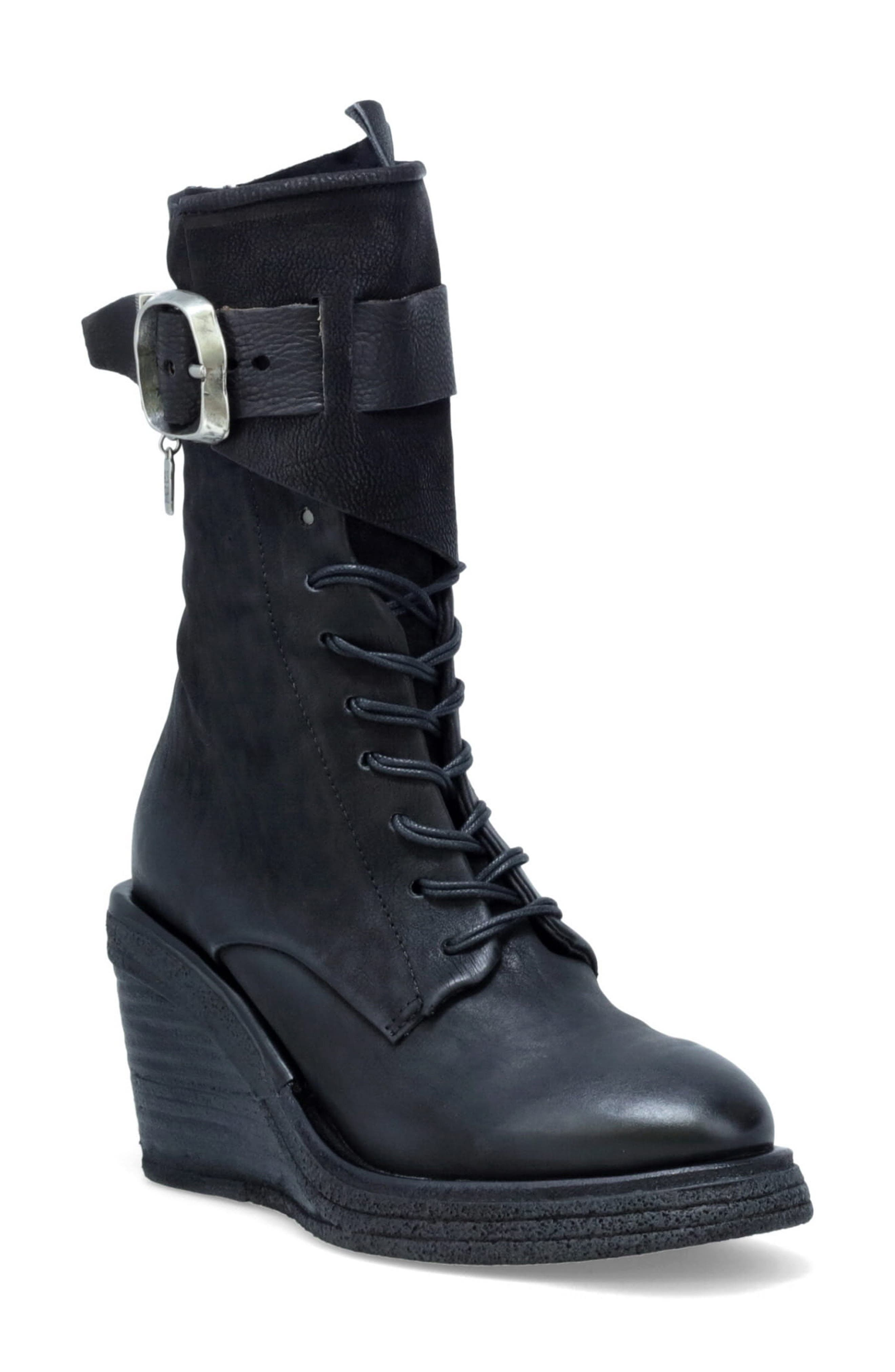 Women's A.s.98 Thatcher Lace-Up Wedge Bootie