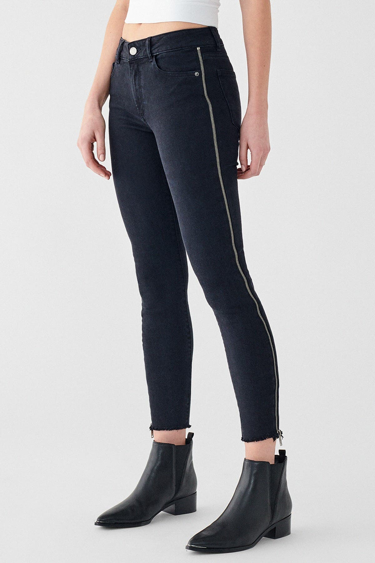 Image of DL1961 Florence Cropped Mid Rise Jeans