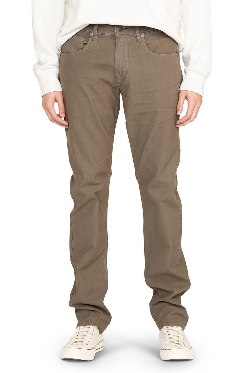 HUDSON JEANS Blake Slim Straight Leg Jeans, Main, color, GRAVEL