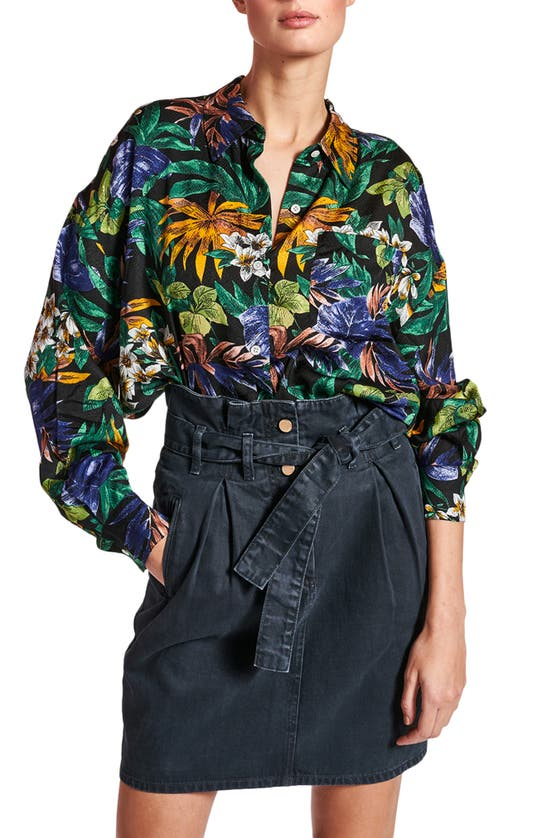 Essentiel Antwerp Shirts ZEEN TROPICAL PRINT OVERSIZE SHIRT