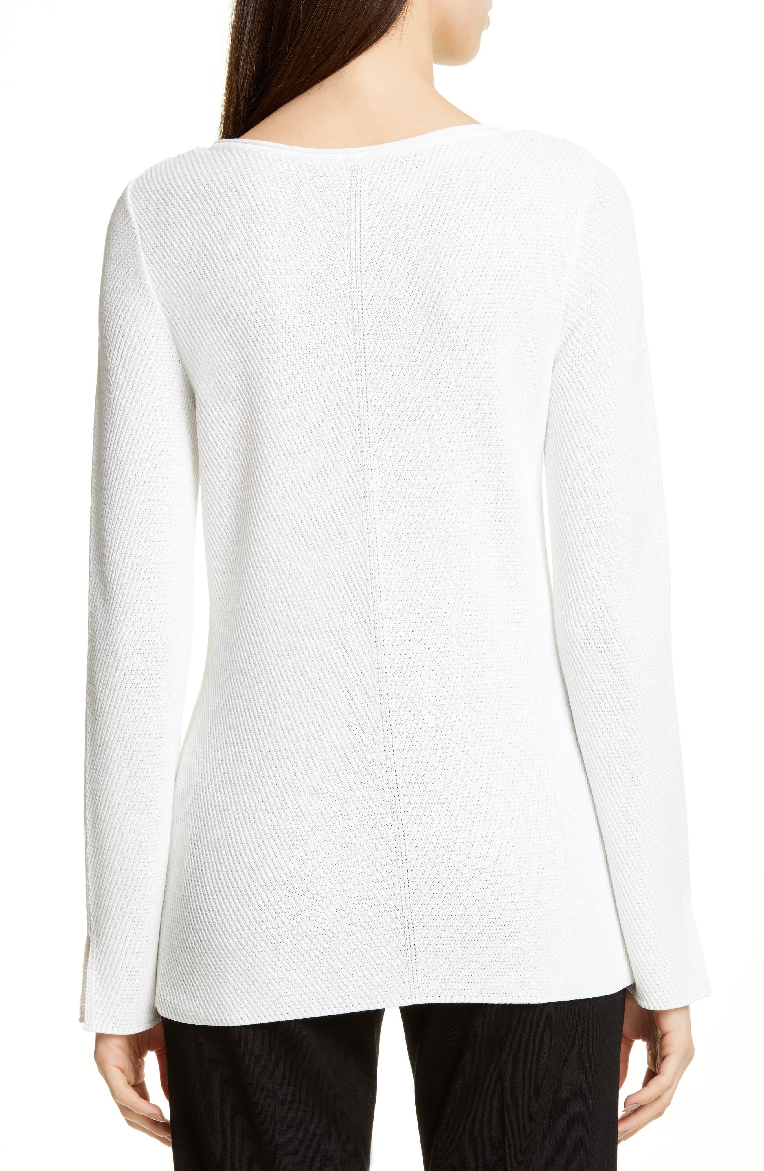 ,                             Chevron Rib Sweater,                             Alternate thumbnail 2, color,                             WHITE