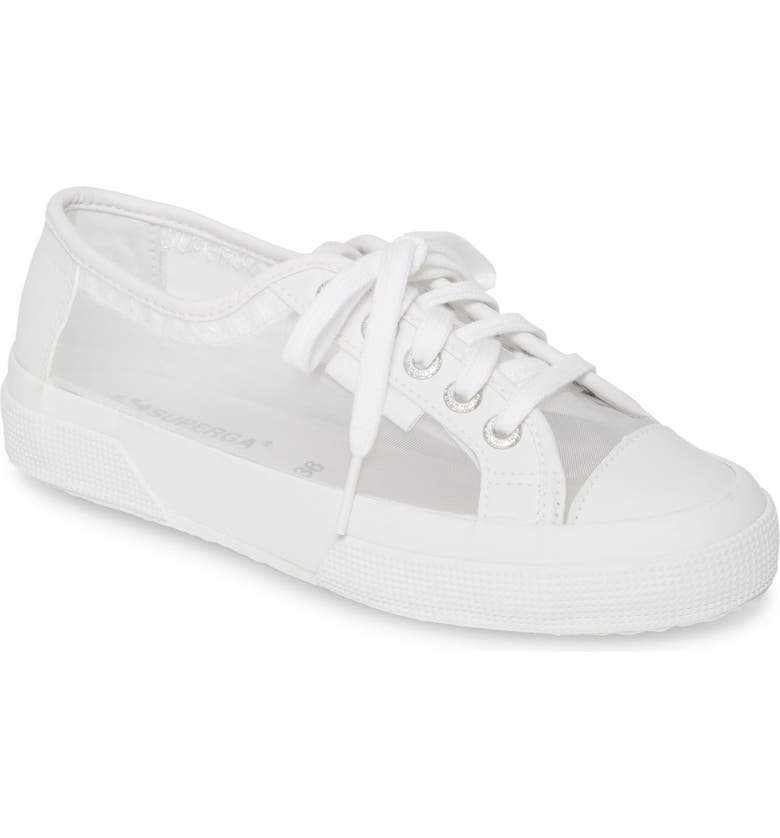 SUPERGA 2750 Mattnetw Mesh Sneaker, Main, color, WHITE