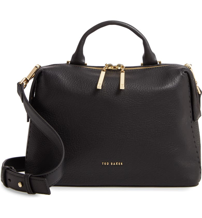TED BAKER LONDON Emilyy Leather Top Zip Tote, Main, color, 001