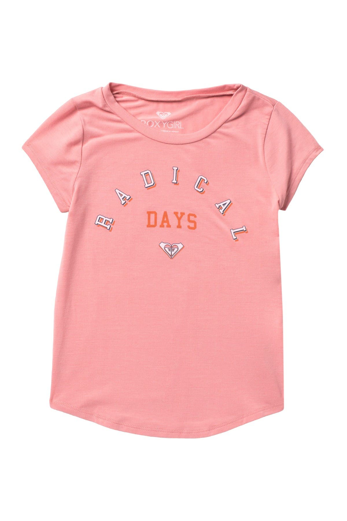 Roxy Girls Big Short Sleeve Crew T-Shirt