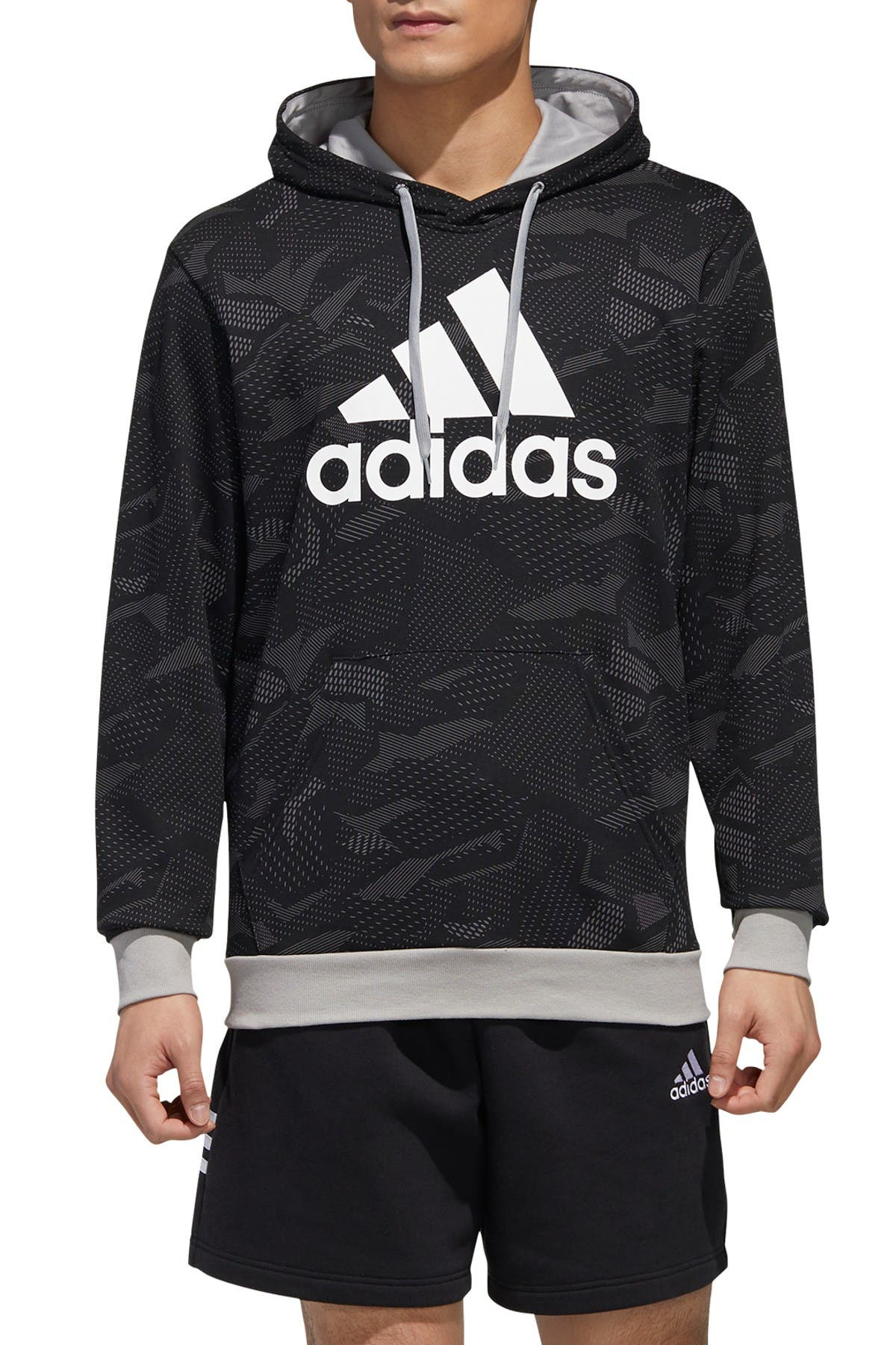 Image of adidas Essentials Allover Print Hoodie