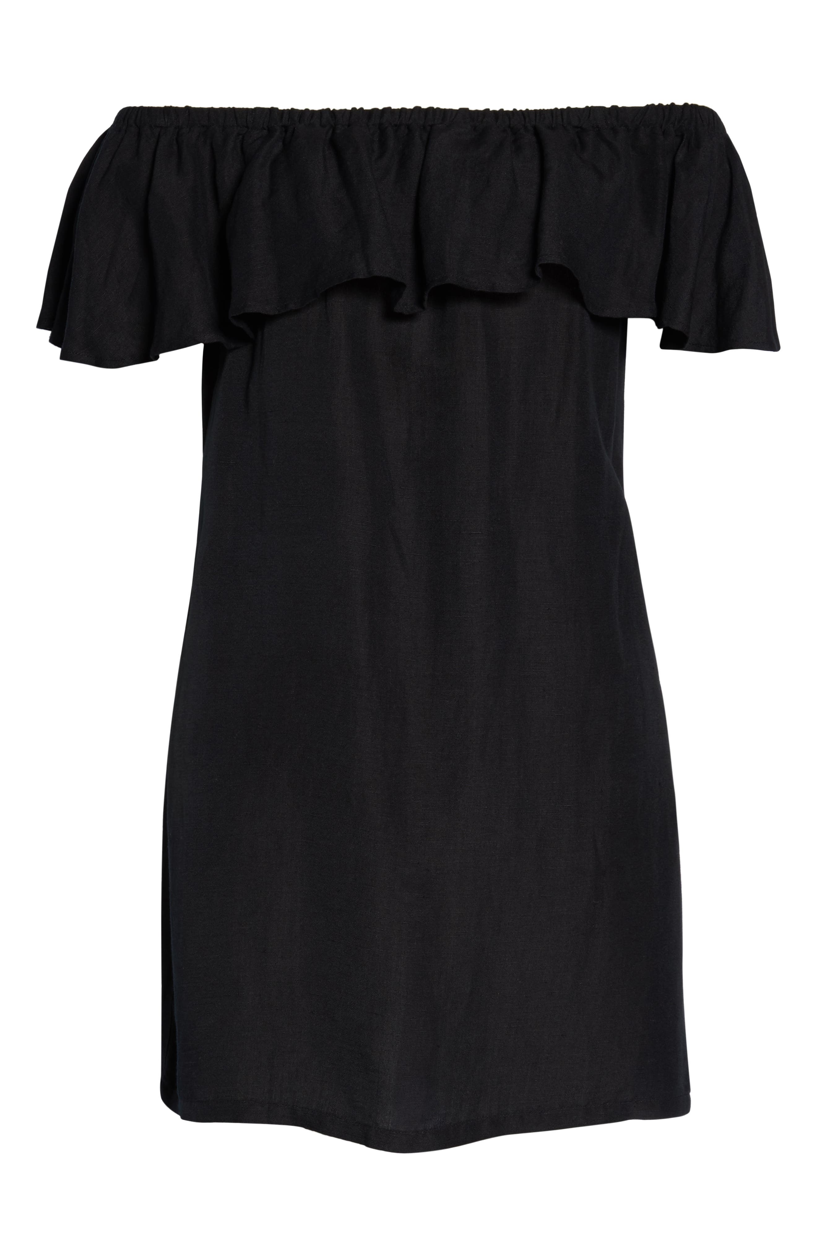 ,                             Off the Shoulder Cover-Up Dress,                             Alternate thumbnail 7, color,                             002