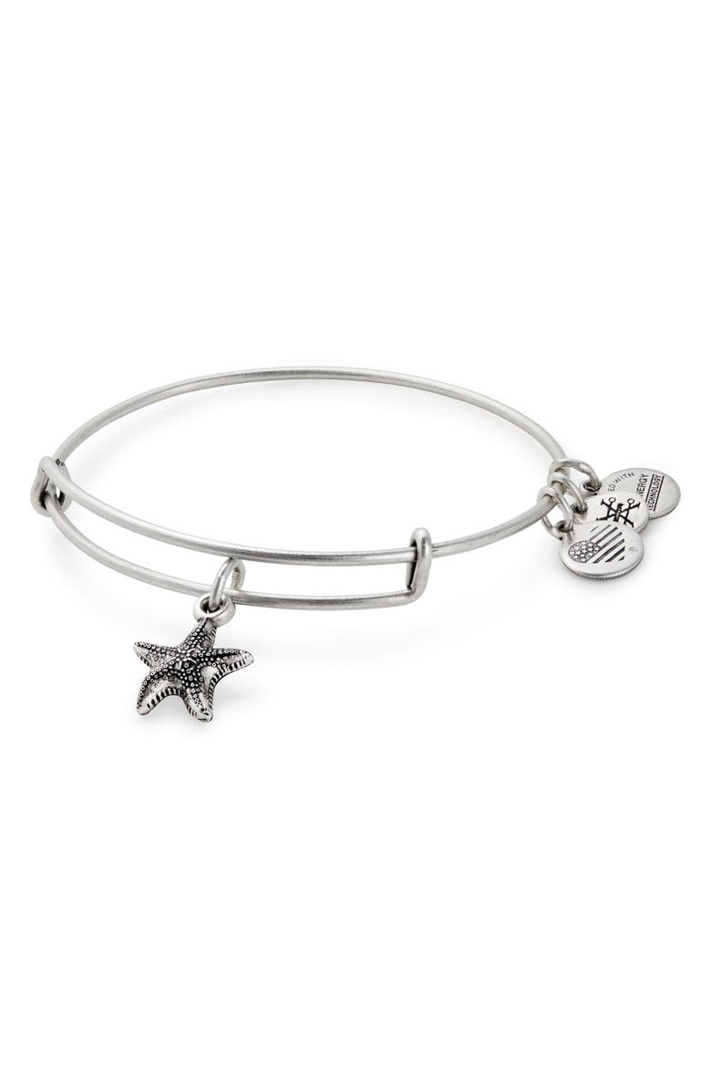 ALEX AND ANI Starfish Adjustable Wire Bangle, Main, color, 040