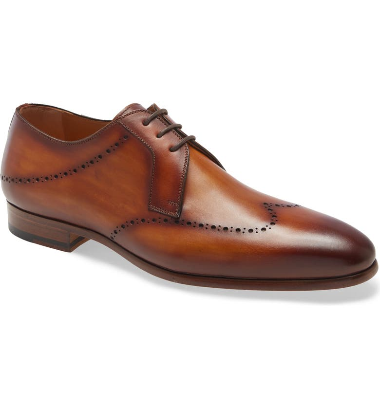 MAGNANNI Plaka Perforated Wingtip Derby, Main, color, 200