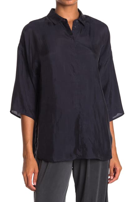 Image of French Connection Etta 3/4 Sleeve Tunic Blouse
