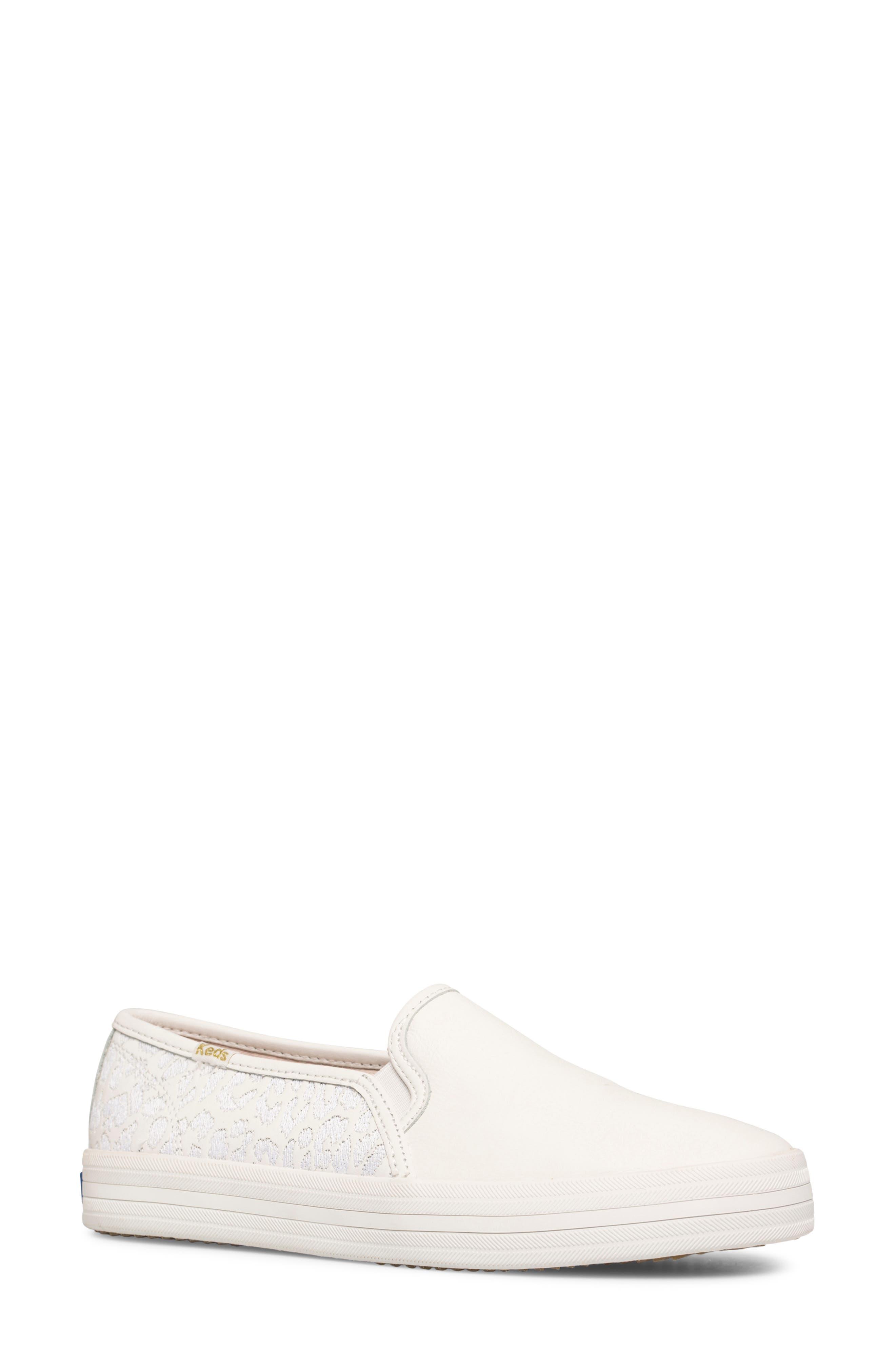 Women's Keds X Kate Spade New York Double Decker Embroidered Slip-On Sneaker