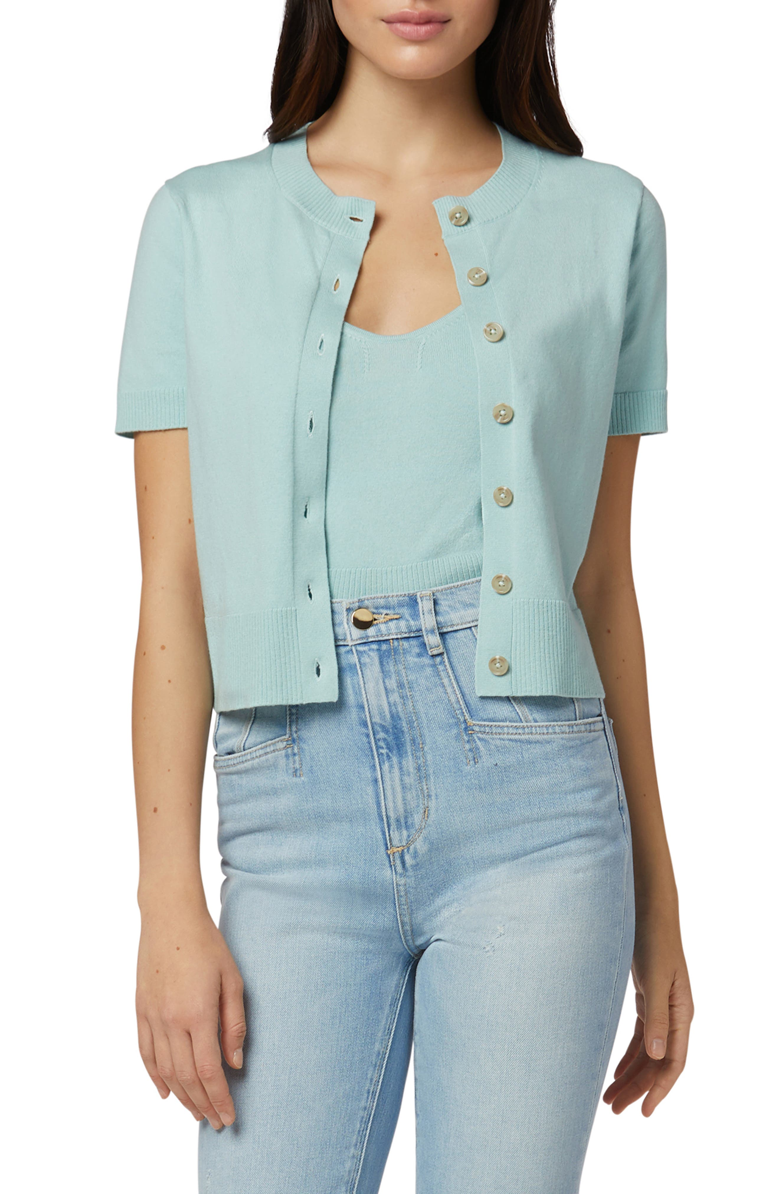 Cotton & Cashmere Short Sleeve Cardigan