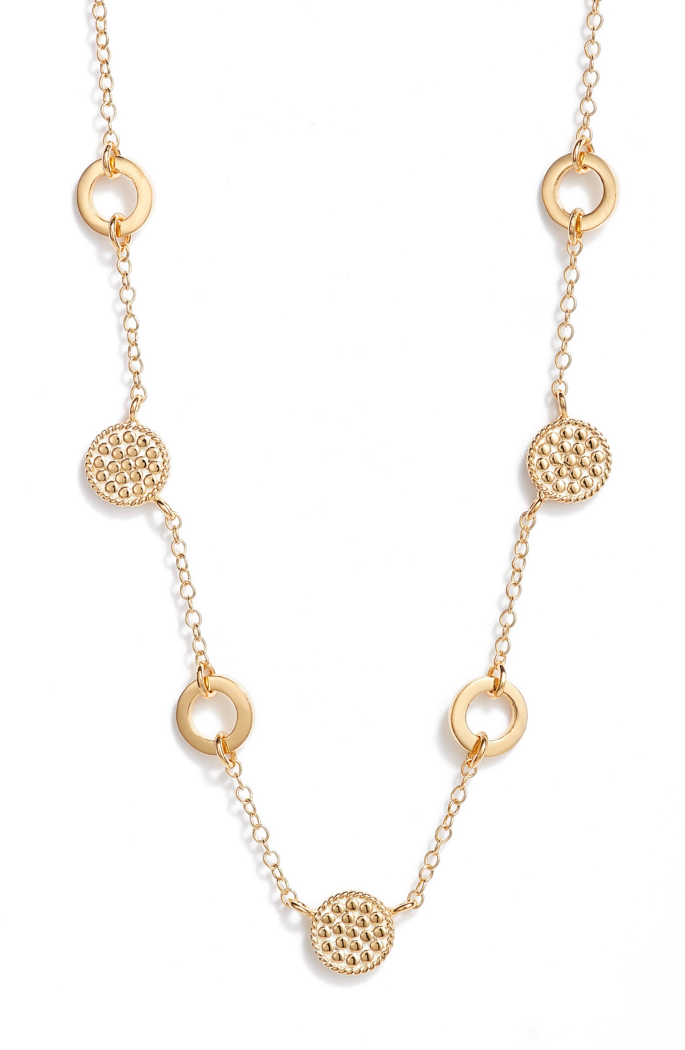 Multi Disc Station Collar Necklace (Nordstrom Exclusive)