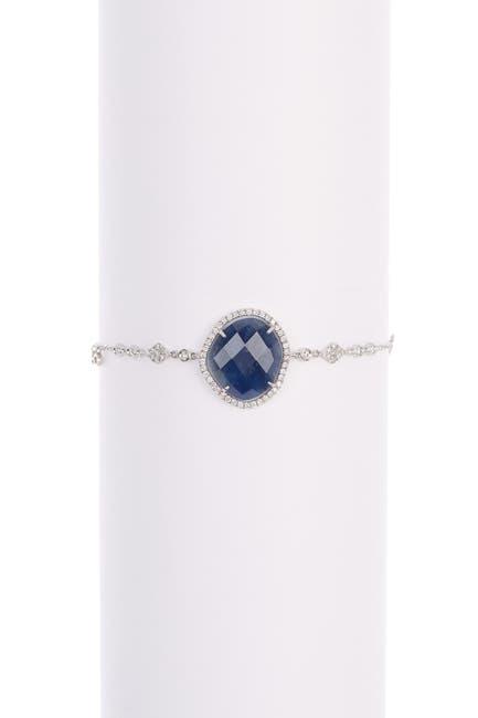 Image of Meira T 14K White Gold Diamond Accent Sapphire Bracelet