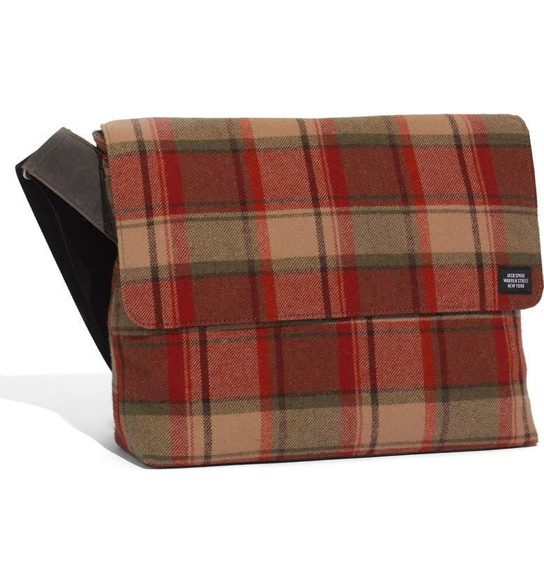 JACK SPADE Plaid Day Bag, Main, color, 606