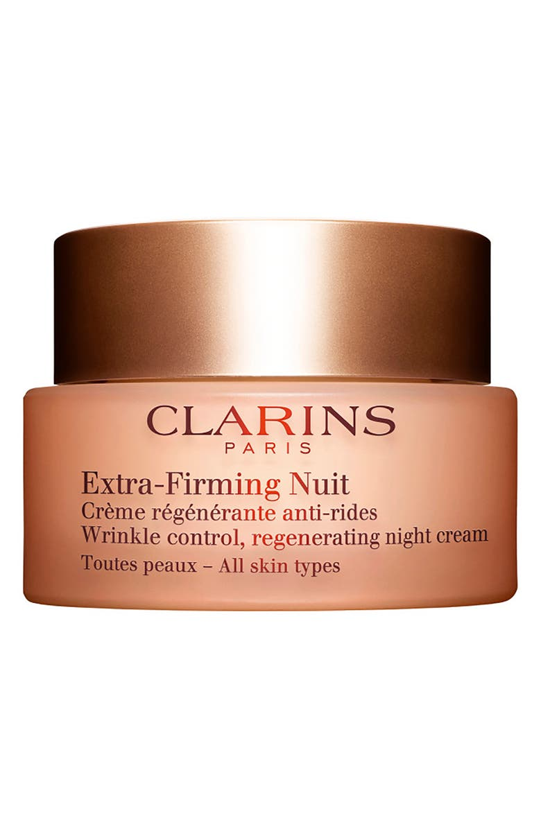 CLARINS Extra-Firming Wrinkle Control Regenerating Night Cream for All Skin Types, Main, color, NO COLOR